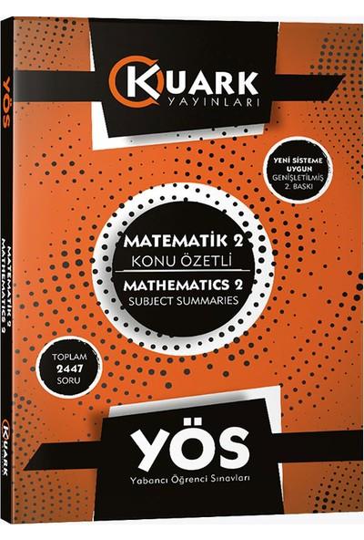 Kuark Yayınları Yös Matematik 2 Konu Özetli