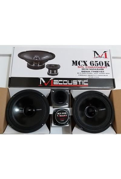 Macoustic M Acoustic Mcx 650K 16CM Midrange 2ADET Dome Tweeter Hediyeli