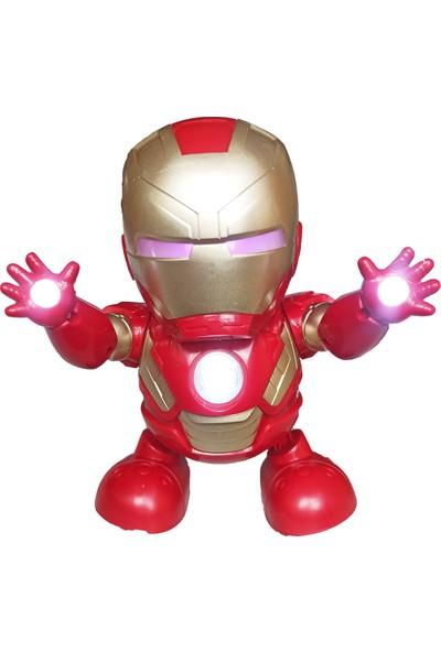 Meva Ironman Işıklı Müzikli Dans Eden Çılgın Ironman Demir Adam 20 Cm.