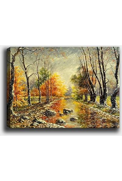 Syronix Sonbahar Ağaçlar Kanvas Tablo