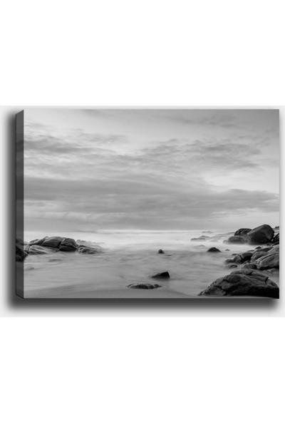 Syronix Siyah beyaz deniz kanvas tablo