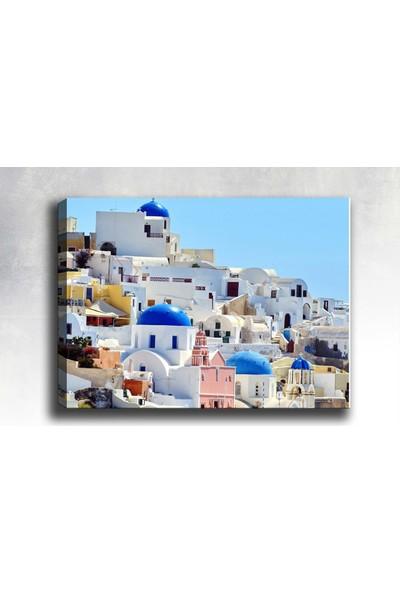 Syronix Yunanistan evleri manzara kanvas tablo