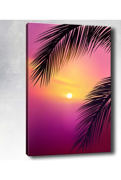 Syronix Tropikal gün batımı kanvas tablo