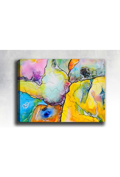 Syronix Renkli Soyut Desen Kanvas Tablo
