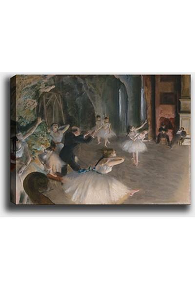 Syronix Edgar Degas 1874- Balerinler ve Prova Sahnesi Kanvas Tablo