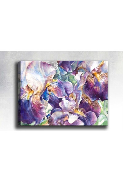 Syronix Mor Çiçek Kanvas Tablo
