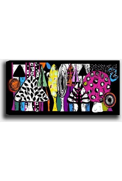 Syronix Renkli Ağaçlar Kanvas Tablo