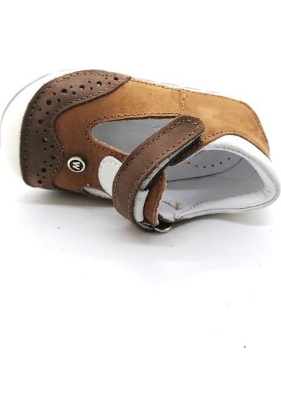 Arulens Anatomik Ortapedik %100 Doğal Hakiki Deri Tarçın Renk Unisex Çocuk Ayakkabı