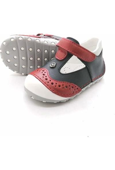 Arulens Anatomik Deri Kırmızı Renk Unisex Çocuk Ayakkabı