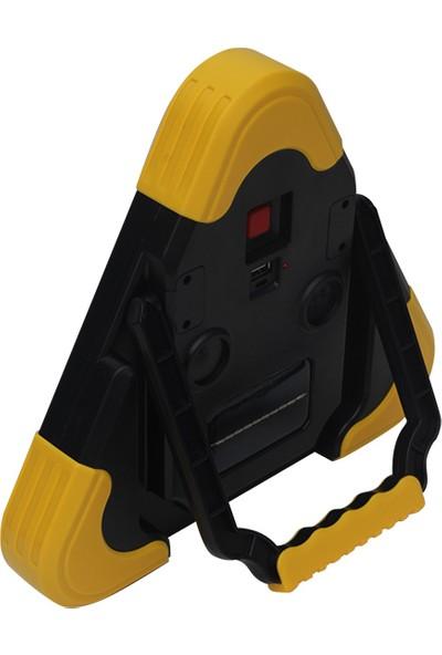 Powermaster Solar Şarjlı Cob Aydınlatma Park Reflektör Tip Fener Powermaster HB-7709