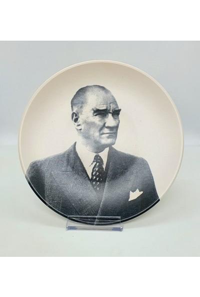 Keramika Atatürk Resimli Masaüstü Tabak
