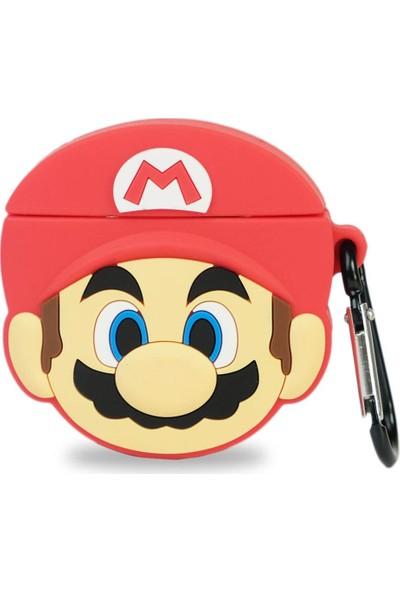 Markamindirim Mario Figür Tasarım Kırmızı Airpods Kılıfı