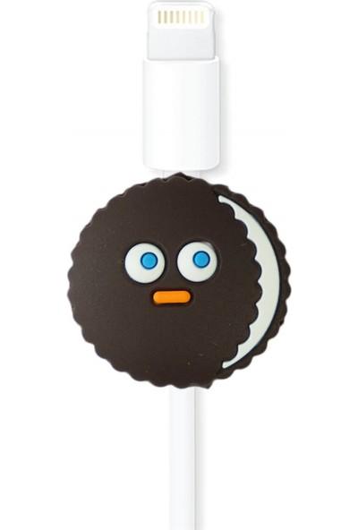 Markamindirim Kablo Koruyucu Siyah Bisküvi