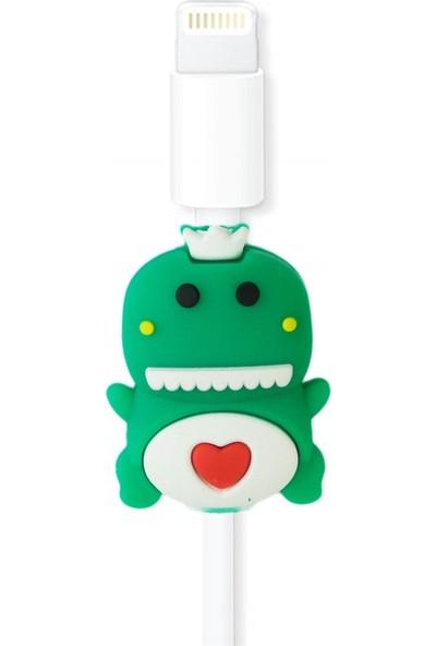 Markamindirim Kablo Koruyucu Yeşil Kalp Dinazor