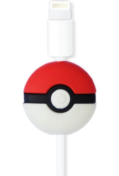 Markamindirim Kablo Koruyucu Kırmızı Pokemon