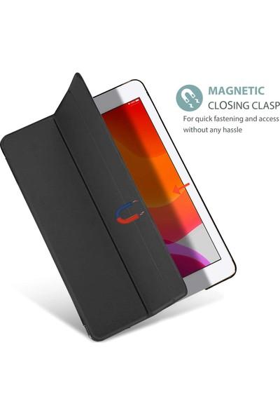 """Wowlett Samsung Galaxy Tab A7 Sm T500 T505 T507 10.4"""" (2020) Kılıf Uyku Modlu Smart Katlanabilir Standlı Kapaklı Tablet Kılıfı Siyah"""