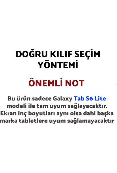 "Wowlett Samsung Galaxy Tab S6 Lite Kılıf P610 P615 P617N 10.4"" Çocuklar Için Tablet Kılıfı Pembe"