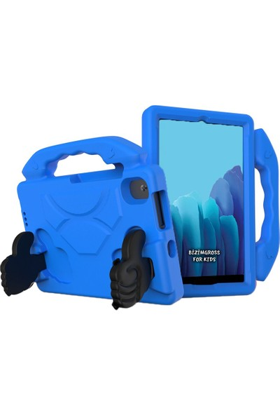 "Wowlett Samsung Galaxy Tab S6 Lite Kılıf P610 P615 P617N 10.4"" Çocuklar Için Tablet Kılıfı Mavi"