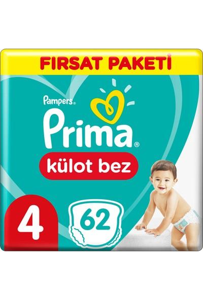 Prima Külot Bebek Bezi Fırsat Paketi 4 Beden 62 Adet