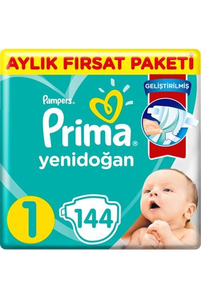 Prima Bebek Bezi Aktif Bebek 1 Beden 144 Adet Aylık Fırsat Paketi
