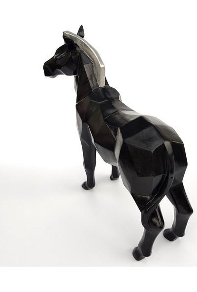 Bun Design Siyah At Figürlü Biblo