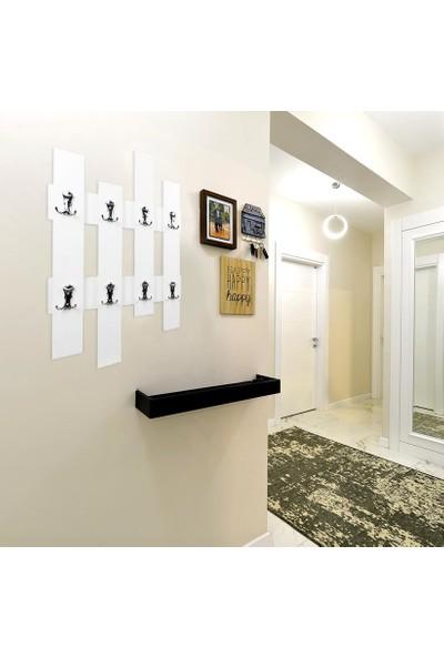 Bayz Beyaz Çit Elbise Askılık Duvar Tipi Dekoratif Ürün