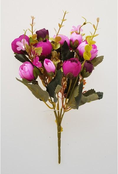 Adresi Yapay Çiçek Yapay Çiçek 5 Dallı Yumru Gül Demeti 30 cm Mor