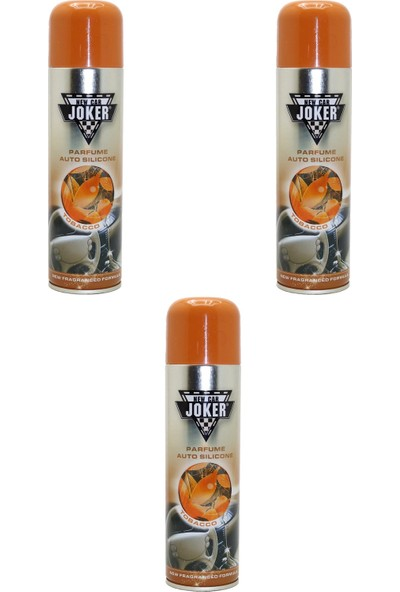 Joker 3 Adet Torpido Temizleyici, Parlatıcı ve Bakım Spreyi Tobacco 200 ml