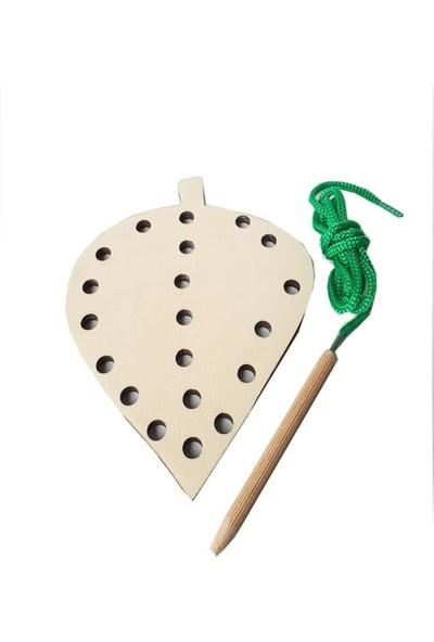 Woodlife Woodylife Ip Geçir Tak Çıkar Ahsap Yaprak Montessori Çocuk Oyuncak