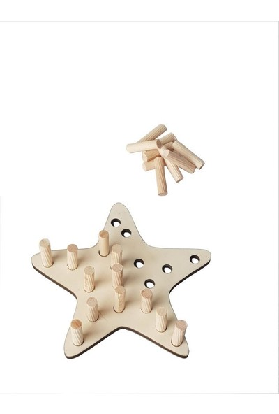 Woodlife Woodylife Ip Geçir Tak Çıkar Ahsap Yıldız Montessori Çocuk Oyuncak
