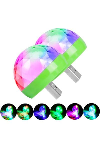 Runedo Mini Disko Topu Sese Duyarlı USB Girişli Rgb 4cm x 4cm