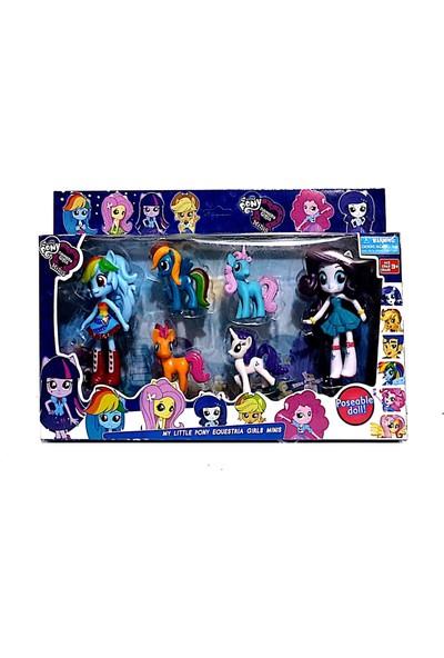 Hepsilazım 6 Figürlü Pony At Oyuncak Seti