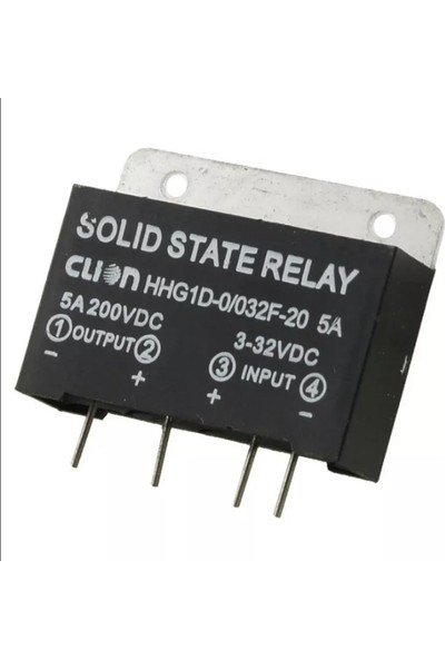 Emay Center Solid State Relay Upright HHG1D-0 032F-20 5A Röle 5A 200VDC / 3-32 Vdc