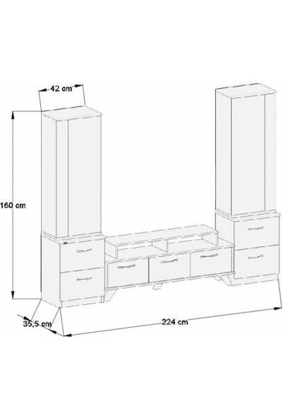 Abre Beyaz Tv Ünitesi LCD Sehpası Vm 4245142