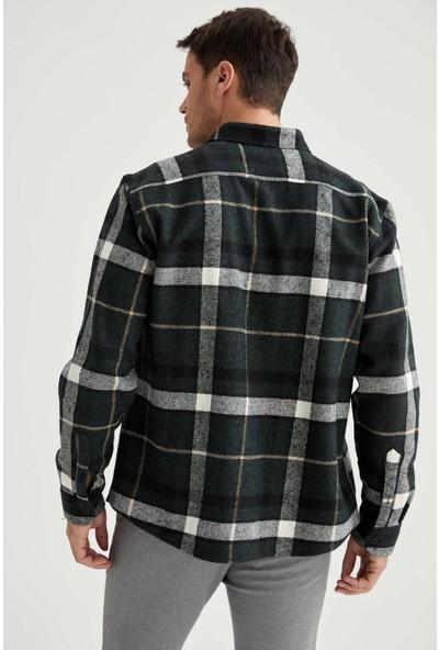 Defacto Regular Fit Uzun Kollu Kareli Oduncu Gömlek
