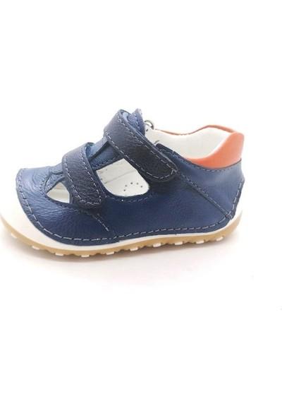 Arulens Deri Kot Mavi Rengi Çocuk Ayakkabı