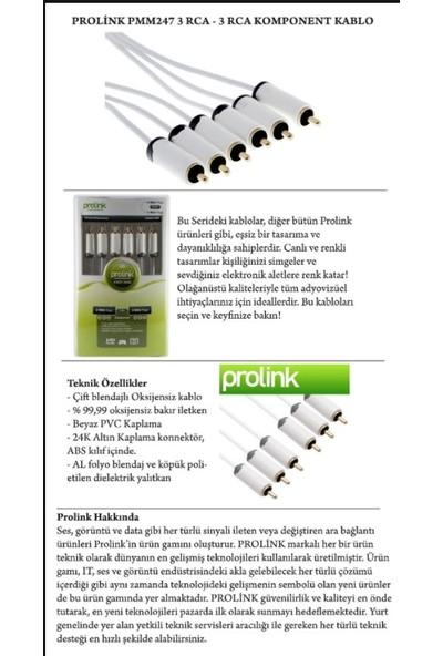 Prolink PMM-264 3 Rca - 3 Rca Kompozit Kablo - 2m