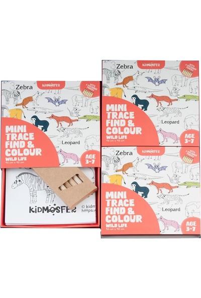 Kidmosfer Vahşi Yaşam Noktaları Birleştir Bul Boya Poster