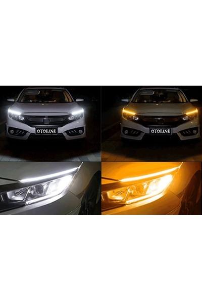 Otoline Honda Civic 2001-2005 Typer Far Üstü Çok Fonksiyonlu LED