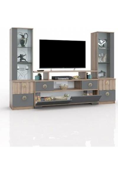 Abre Antrasit Ceviz Tv Ünitesi LCD Sehpası Vm 4244042