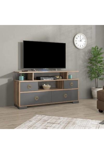 Abre Antrasit Tv Ünitesi Tv LCD Sehpası Vm 440