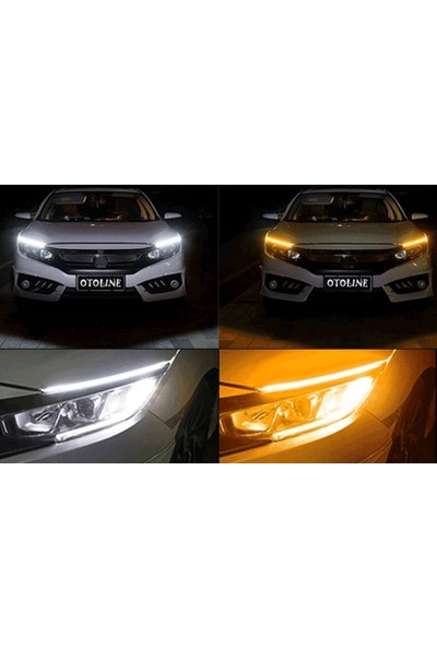 Otoline Toyota Auris 2013 ve Sonrası Far Üstü Çok Fonksiyonlu LED