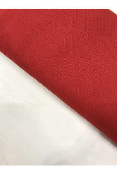 Kumaş Home Kırmızı Eni 180 cm Dertsiz Leke Tutmaz Su İtici Döşemelik Duck Keten Kumaş