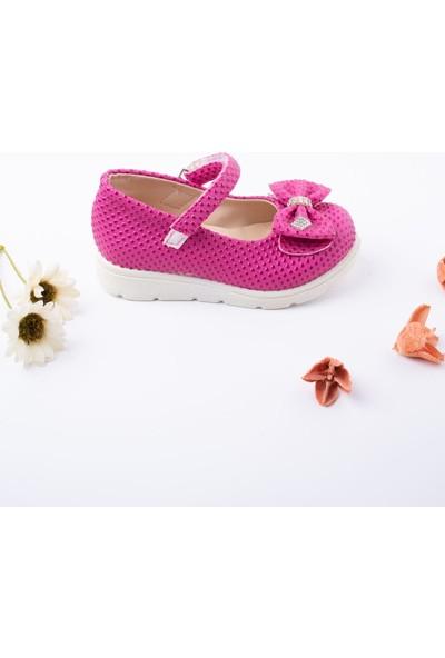 Epaavm Poli Taban Fuşya Noktalı Bebe Ayakkabı