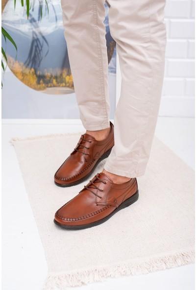 Epaavm Ortapedik Pedli Kahverengi Deri Ayakkabı