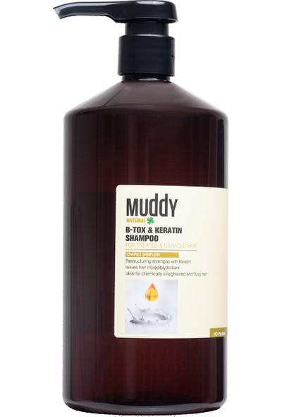 Muddy B-Tox & Keratın Shampoo Aşırı Yıpranmış Saçlar Için Onarıcı