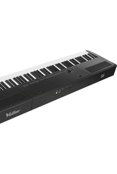Valler S8 Siyah Stage Dijital Piyano