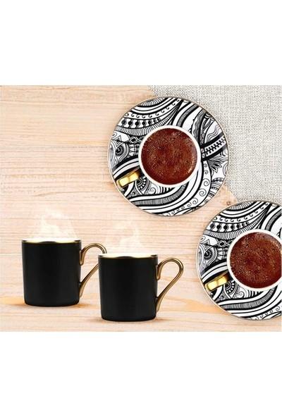 Deko Home Passıon 6'lı New Bone Kahve Fıncan Setı