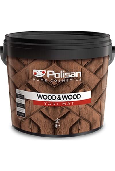 Polisan Wood&wood Anti Aging Ahşap Verniği Yarımat Su Bazlı Şeffaf 0,75 Lt