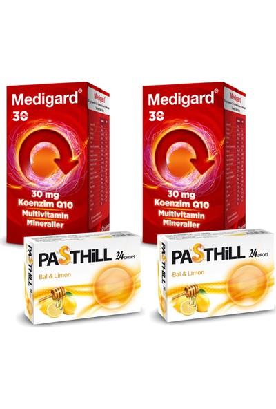 Eczacıbaşı 2 Adet Medigard Vitamin Mineral Kompleks COQ10 30 Tablet + 2 Adet Pasthill Portakal & C Vitamini 24 Drops Hediye